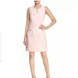 Karl Lagerfeld Tonal Tweed Pocket Dress